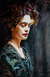 Timeless  by artist Jenna Anderson. Oil #portrait painting found on the FASO Daily Art Show -- http://dailyartshow.faso.com