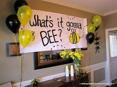 """""""What's it Gonna Bee?"""" - Bumble-Bee Themed Gender Reveal"""