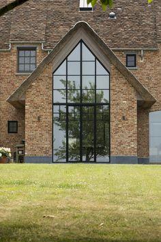 Future House, My House, Barn Kitchen, Loft Room, Dream House Exterior, Brick And Stone, Wooden House, Luxury Decor, Window Design