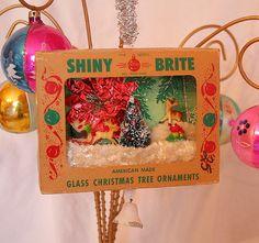 Vintage Ornament Box Diorama