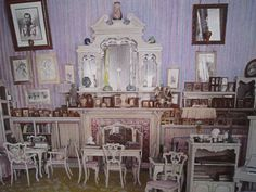 The Mauve Boudoir, favorite room of Alix, Alexander Palace, Tsarskoye Selo ~