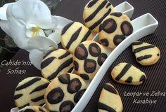 leopar kurabiye ,zebra kurabiye