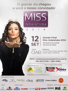 SOCIAIS CULTURAIS E ETC.  BOANERGES GONÇALVES: Grande Final do Miss Indaiatuba 2014