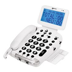 This telephone is used by the visually or hearing impaired. This phone has an amplified ring and flasher to let the person know someone is calling. It produces voice output stating name, number, date and time. There is also a big screen to let the hearing impaired know who is calling and is hearing aid compatible. Talking recognition and tactile keys enables both the hearing impaired and visually impaired to use this phone. It can be purchased for $170.00.