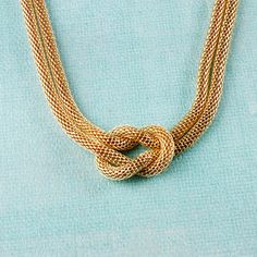 MISS A :: No.1 Accessory Shop :: NECKLACES :: Metal :: Double Strand Knotted Chain Necklace