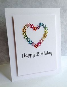 Love this card created by Lisa Adessa using a Simon Says Stamp Sentiment with some Gemstones.