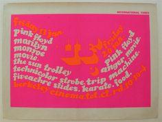 Pink Floyd 1967 concert poster