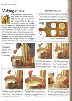 making cheese and other farming things Making Cheese At Home, How To Make Cheese, Food To Make, Butter Cheese, Wine Cheese, Cheese Recipes, Cooking Recipes, Homemade Cheese, Diy Food