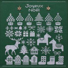 刺繍刺しゅうキットCOSMOCrossStitchNoelちいさなクリスマスモチーフたち【ネコポス可】