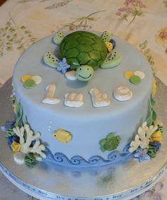 . Sea Cakes, Turtle Cakes, Decorated Cakes, Birthday Cakes, First Birthdays, Cake Recipes, Beach, Party, Desserts