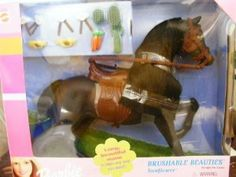 Barbie Champion Horse Sunflower Brushable Beauties by Mattel. $104.71. Brushable Beauties- Complete with Gromming Set. Asst. 67022. Brush, Comb, Bows and Ribbons. Barbie Champion Horse Sunflower- 1999. Collect all 4 Barbie Champion Horses. Rare Hard to Find Barbie Brushable Beauties Sunflower.