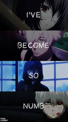 "Anime - Another, Death Parade, Phantom: Requiem for the Phantom, Tokyo Ghoul Song: ""Numb"" by Linkin Park <<< I've only watched Tokyo Ghoul (and I'm watching death parade now) out of these four"