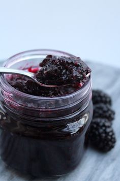 This simple blackberry jam is a no pectin and low sugar recipe. All you need is blackberries and a small amount of sugar to make a tasty.