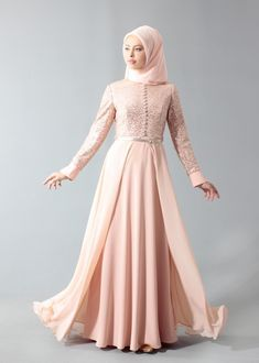Model Gamis Pesta Brokat Kombinasi Satin