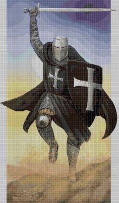 Teutonic+Knight+Templar+cross+stitch+pattern+in+pdf+DMC