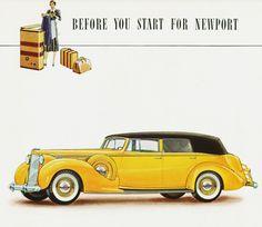 Packard Twelve Convertible Sedan 1938 - Mad Men Art: The 1891-1970 Vintage Advertisement Art Collection