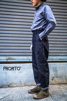 Workwear Fashion, Work Fashion, Fashion Men, Denim Fashion, Nigel Cabourn, Man Outfit, Plus Size Men, Japanese Street Fashion, Bangkok Thailand