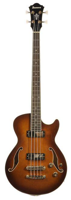 IBANEZ AGB200 Artcore Semi-Hollow Body Bass Violin Sunburst | Chicago Music Exchange