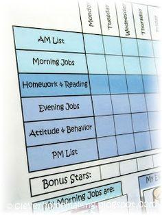 Clever Homemaking: Family Economic System: Chore Charts & Kid Bucks