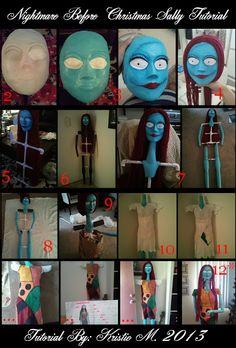 DIY Nightmare Before Christmas Halloween Props: Nightmare Before Christmas Sally Prop Tutorial