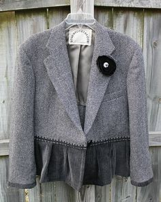 altered refashioned jacket by Regina Moore, via Flickr