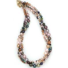 Timeless Elegance Triple Strand Necklace ~holly yashi