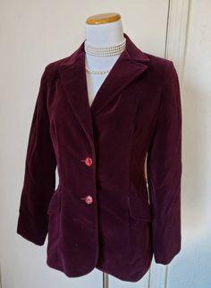 Vintage velvet blazer jacket 80s basic black minimalist coat