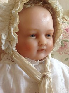 Outstanding Beautiful Large Portrait Doll Antique English Poured WAX Baby   eBay