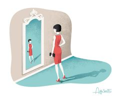 Editorial illustration for Psychologies magazine february issue.About the Imposter Syndrome.