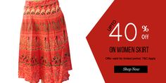 This is online indian Rajasthani print Skirt at @handicrunch