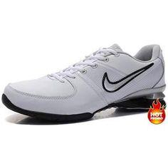 www.asneakers4u.com Mens Nike Shox R2 White Black Silver