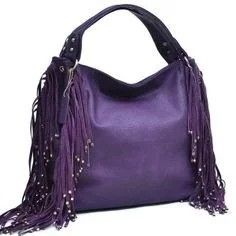 a97ddd26e7 Shop for Dasein Studded Fringe Hobo Bag. Get free delivery at Overstock -  Your Online Handbags Outlet Store!