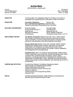 resume for architectural engineering httpexampleresumecvorgresume for - Architectural Engineer Sample Resume