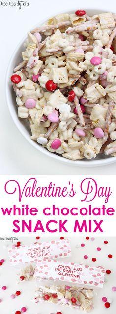 Valentine's Day white chocolate cereal snacks got Awana snack mix + free printable! Valentines Day Desserts, Valentine Treats, Holiday Treats, Holiday Recipes, Printable Valentine, Valentine Cupcakes, Valentine Party, Heart Cupcakes, Pink Cupcakes