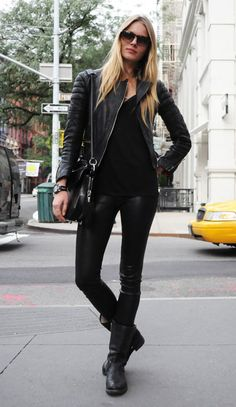 like the leather pants or the leather jacket ALL black just keeps working