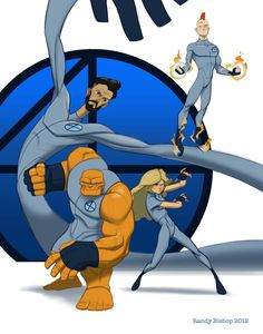 Fantastic Four by randybishopart.deviantart.com on @deviantART