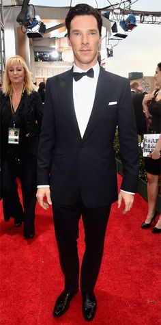 Golden Globes 2015: Red Carpet Arrivals - Benedict Cumberbatch from #InStyle