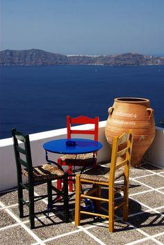 Overlooking the Aegean Sea in #Santorini , #greekisland_hellenicdutyfree