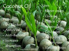 A great summary of the many benefits and uses for the naturally amazing Coconut Oil! #DIY #coconutoil