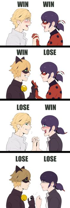 miraculous ladybug--where else can you have 4 different ships for the same 2 peoples?