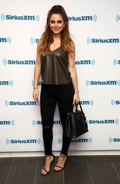 Maria Menounos - Visits SiriusXM Studios in NY 8/22/16