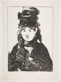 Édouard Manet (French, 1832–1883). Berthe Morisot (In Black), 1872–74. The Metropolitan Museum of Art, New York. Harris Brisbane Dick Fund, 1923 (23.21.22) #paris