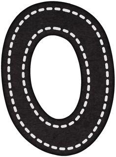 Alfabeto Negro con Líneas Blancas Intermitentes.