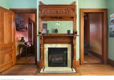 gorgeous fireplace and surround!