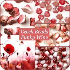 Czech glass beads.. Funky wine.. 🍁🍷❤️ #hautehobby  #czechglass  #flowerbeads