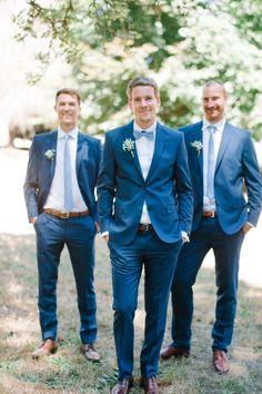 Ideas For Wedding Suits Men Blue Groomsmen Wedding Men, Trendy Wedding, Dream Wedding, Wedding Blue, Blue Wedding Suit Groom, Blue Suit Groom, Wedding Groom Attire, Groom Suits, Wedding Colors