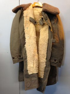 Vtg 40s Deadstock M 1909 Swedish Military Sheepskin Parka L | eBay ...