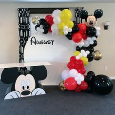 mickey mouse birthday party ideas How cute was this Mickey Mouse setup we have backdrops, balloons, props and so much more BOOK US today for your next event Mickey Mouse Backdrop, Mickey Mouse Birthday Decorations, Mickey Mouse Balloons, Fiesta Mickey Mouse, Mickey Mouse Parties, Mickey Mouse Centerpiece, Mickey Mouse Table, Mickey Mouse Pinata, Disney Parties