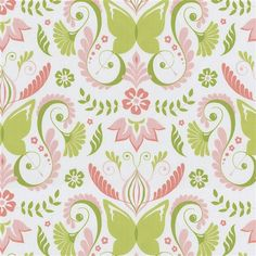 Pink Butterfly Fabric #fabric