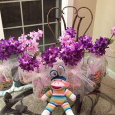 Little girl baby shower centerpieces